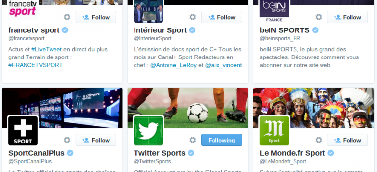 Comment suivre le sport sur Twitter ?